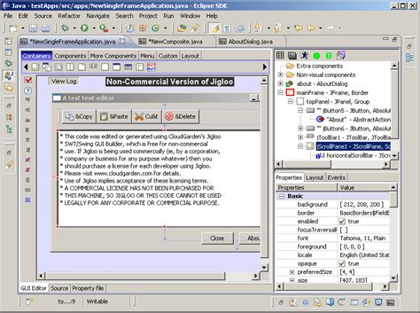 eclipse swing gui java swing gui builder for eclipse chris a matenaers