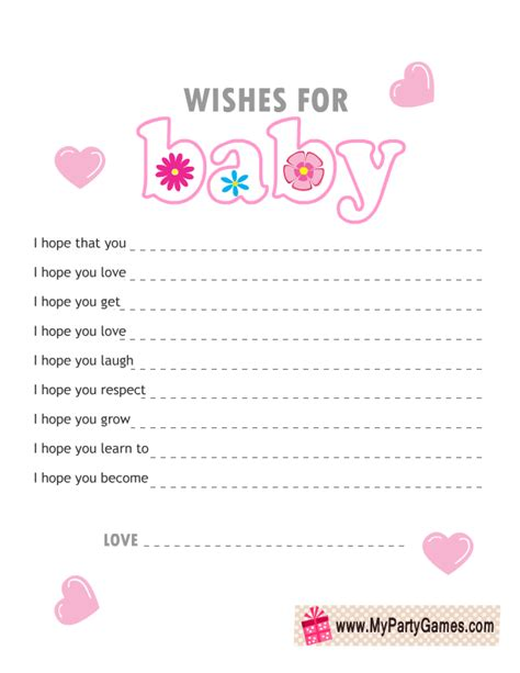 Colors That Match Pink by Free Printable Wishes For Baby Cards