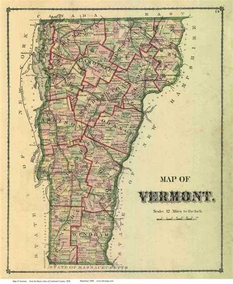 map of vt vermont