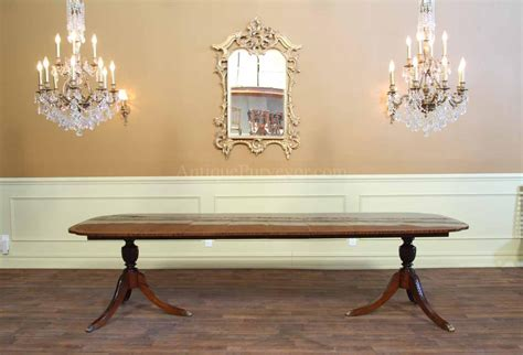 120 inch dining room table stickley dining table double pedestal dining room table