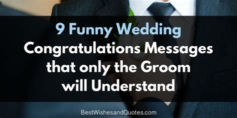 Wedding Wishes Jokes by Wedding Congratulations Messages For The Groom