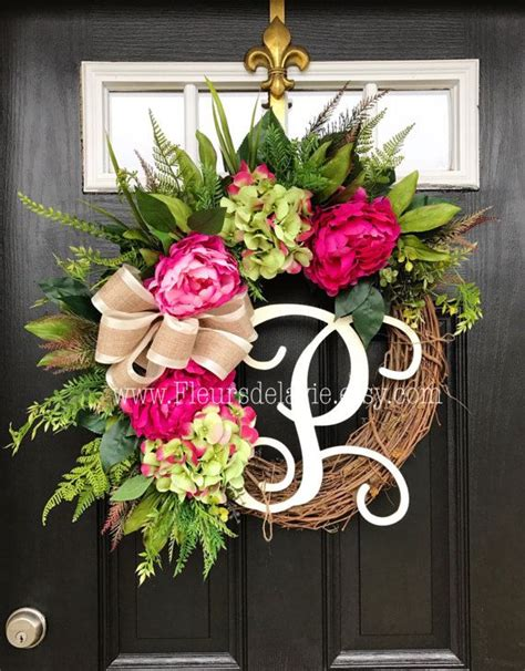 spring wreath ideas to make spring wreath for front door in amazing home decoration