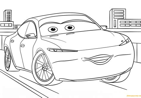 coloring page cars 3 natalie certain from cars 3 disney coloring page free