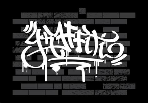graffiti wallpaper hitam putih