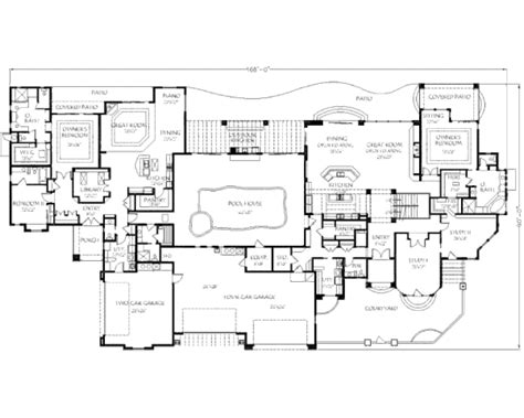 10 bedroom floor plans traditional style house plan 6 beds 8 5 baths 12421 sq