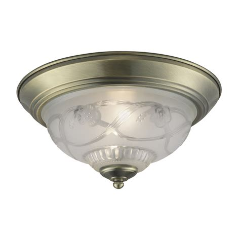 Antique Brass Ceiling Light Shop Project Source 11 4 In W Antique Brass Ceiling Flush Mount Light At Lowes