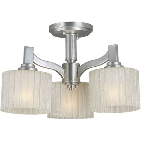 Semi Flush Mount Ceiling Light Brushed Nickel Talista Prana 3 Light Brushed Nickel Semi Flush Mount Light With Umber Linen Glass Cli Frt2488