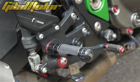 Spion Motor Bar End Rep Rizoma R kawasaki z800 2013 banyak ubahan detail gilamotor