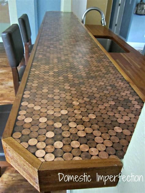 diy bar top diy penny counter domestic imperfection