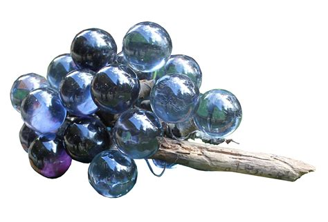 vintage blue glass grape cluster omero home