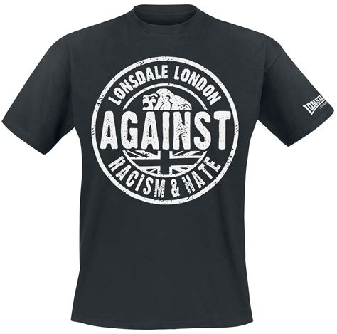 Kaos Tshirt Lonsdale against racism lonsdale t shirt emp