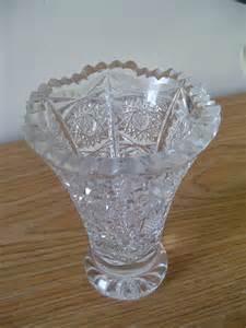 lead glass vase antique lead cut glass vase
