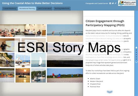 esri story maps the coastal atlas