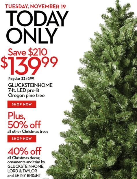 hudson bay christmas tree ads hudson s bay deals get glucksteinhome 7 ft pre lite oregon pine tree for 139 99 50 all