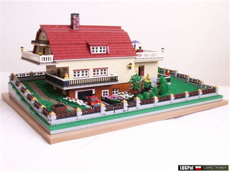 Gambrel Garage by Brick Town Talk December 2010 Lego Town Architecture