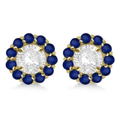 Blue Sapphire 1 44ct blue sapphire earring jackets 8mm 14k yellow gold 1
