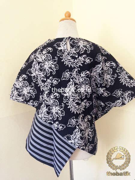 jual model baju batik kerja wanita blus lurik modern