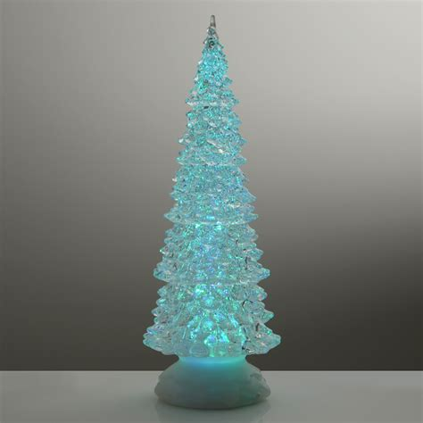 xmas tree 32cm glitter water christmas ornament colour