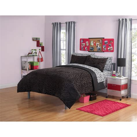 your zone mink zebra bedding comforter set walmart com