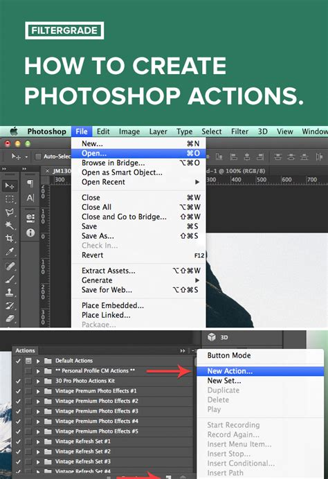 adobe photoshop actions tutorial how to create photoshop actions filtergrade
