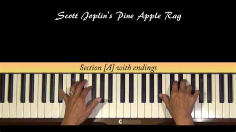tutorial piano ragtime scott joplin pine apple rag piano tutorial youtube