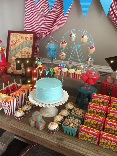 carnival themes ideas vintage circus theme baby shower created by something blue