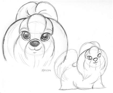 what two dogs make a shih tzu shih tzu sketch by greeniebone on deviantart