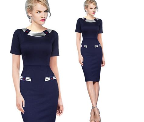 blue martini uniform 2017 2015 ladies chic navy style elegant formal office