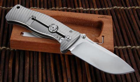 titanium folding knife lionsteel sr 1 grey integral titanium folding knife