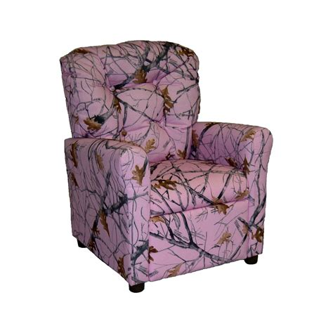 Pink Camo Recliner brazil furniture 4 button back child recliner true west