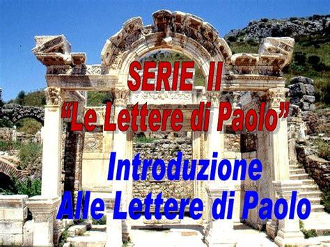 lettere di paolo introduzione alle lettere di paolo