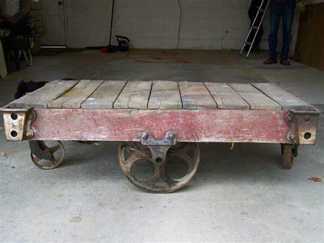 ebay industrial cart coffee table industrial cart coffee antique industrial railroad factory cart coffee table ebay