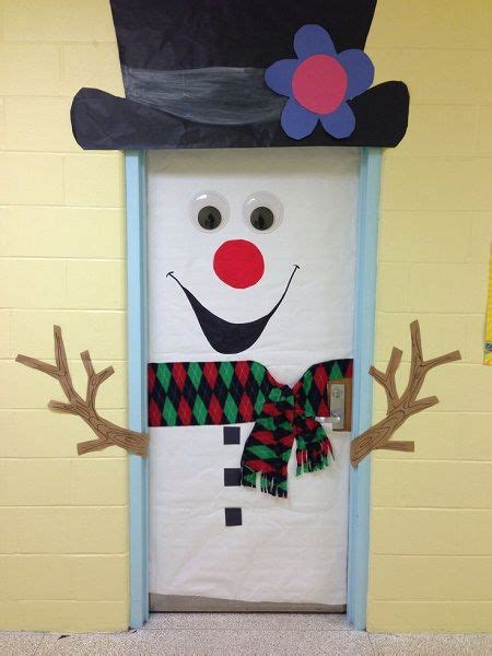 winning christmas door decorations best diy snowman door decoration ideas best decorations 2016