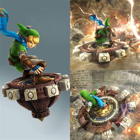 Wii U Hyrule Warriors Amiibo R1 link amiibo will grant spinner for hyrule warriors