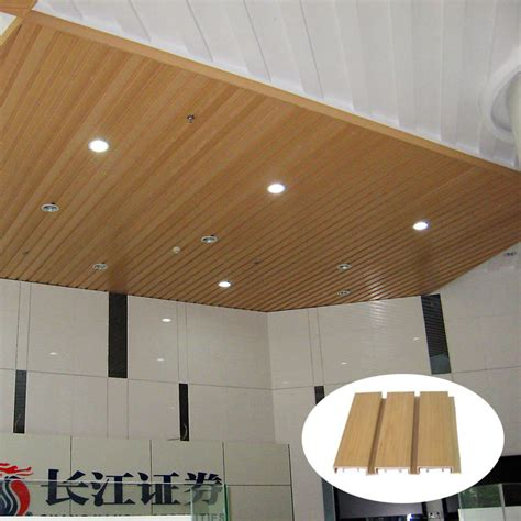 Wood Plank Ceiling Cost China Factory Price Interior Wpc Wood Ceiling Decoration