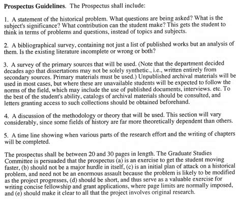 writing a prospectus for a research paper graduate study in german history by h marcuse ucsb