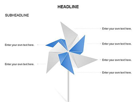 How To Make Wind Fan With Paper - paper wind fan diagram for powerpoint presentations