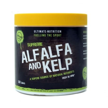 Detox From And Sweating Forehead Vitamins by 500 Alfalfa Kelp Tablets High In Hmb Ultimate Nutrition