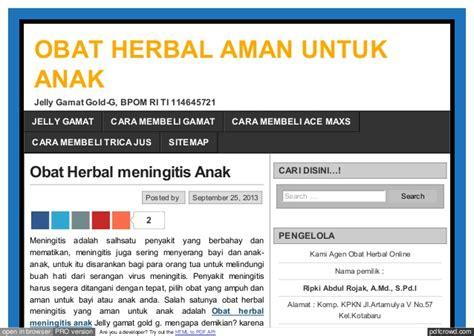 Obat Hp Pro obat herbal meningitis yang aman untuk anak