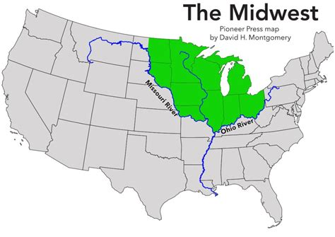 united states map midwest the midwest defined sort of