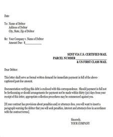 Demand Letter Lawyer Sle Demand Letter Exles