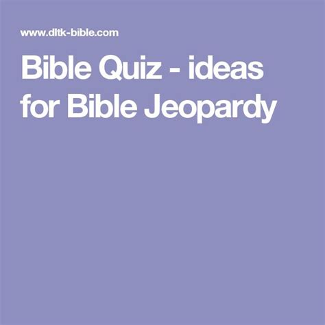 bible jeopardy powerpoint template