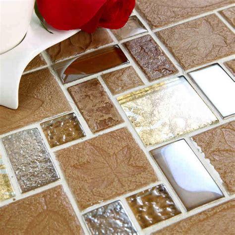 porcelain and glass tiles wall bathroom backsplash leaves free shipping leaf glass mixed ceramic mosaic tile