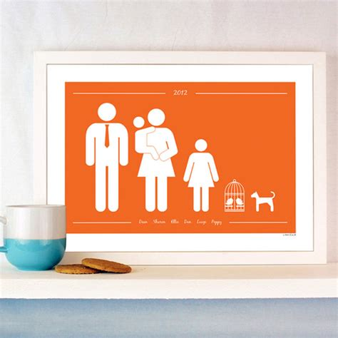 gifts for wall street guys personalised family and pets print by a piece of
