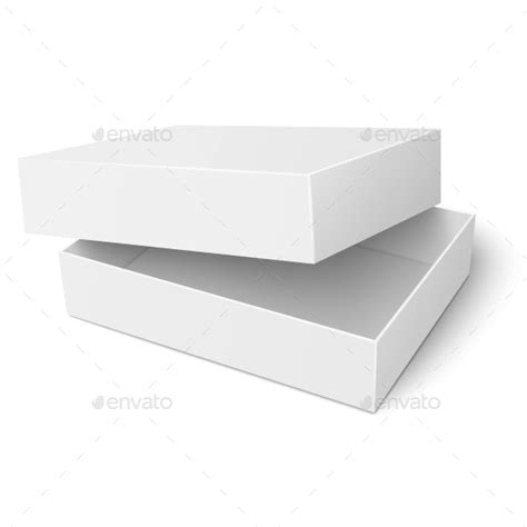 templates for boxes with lids template of white cardboard box with opened lid by derzai