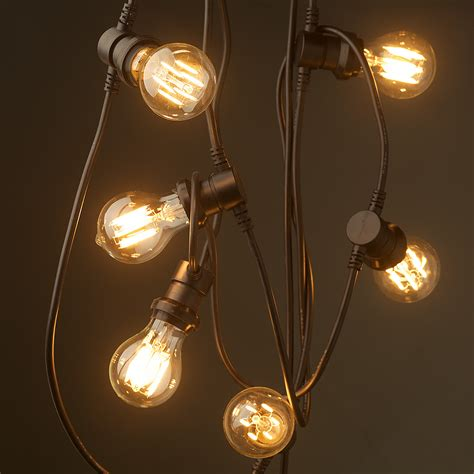 bulb string lights vintage edison 20 bulb lighting 240v