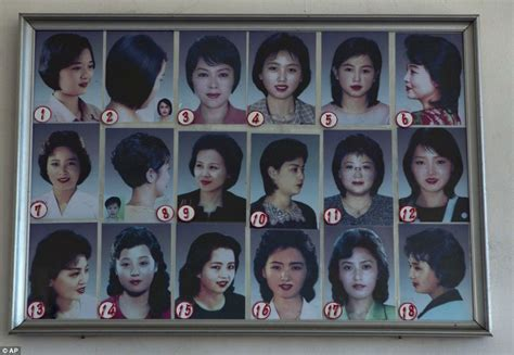 north korea hair styles north korean women encouraged to choose from 18 official