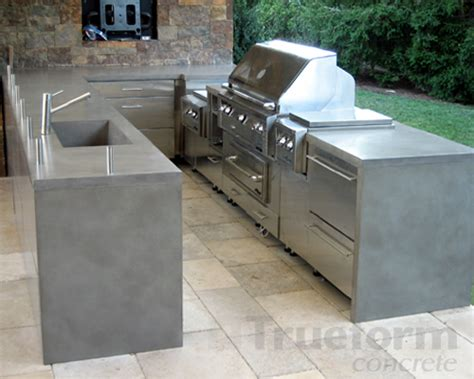 Concrete Countertops For Outdoor Kitchen by Outdoor Concrete Countertop Trueform Decor
