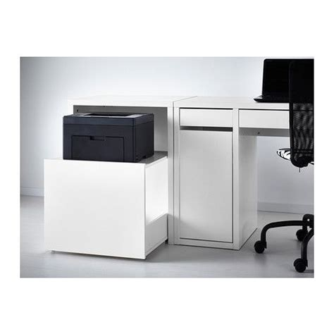 desk with printer storage printer storage desk drawer white ikea 163 60 my style