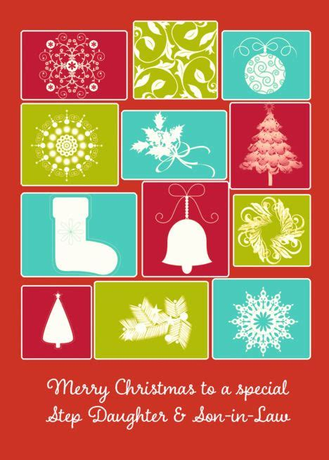 merry christmas   step daughter  son  law digital collage card merry christmas